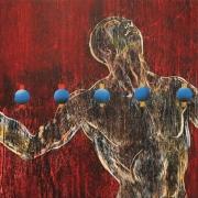 8-Takafur, 2006 RM 9,900.00-SOLD | Acrylic on canvas | 57.5 x 168 cm