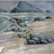 1-Imaginary Seascape - East Coast, 2005 RM 3,300.00-SOLD | Watercolour on paper | 50 x 70 cm