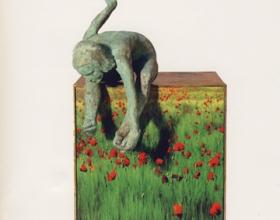 "49-Rocio Villatoro ""tierra"" bronze, iron and digital image 27cm x 25cm x 17cm SOLD"