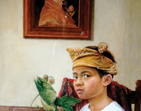52-Syed Azzudin Young Boy-Arcimboldo Watercolour on paper, 70cm x90cm, 2010
