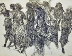 10-Khalil Ibrahim, East Coast Line Sketch (1999) Ink on Paper 59cm x 42cm