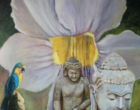 3-Brigitte Shahabudin, Malaysiakini 6 (2011) Oil on canvas, 100cm x 120cm