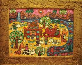 4-Erica Hestu Wahyuni, Happy Family (2010) 80cm x 110cm