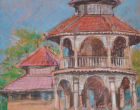 10-Haron Mokhtar, Nostalgia - Ingatan III & IV. 1994 Pastel on Paper 40 cm x 27 cm