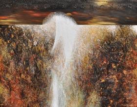 20-Ismail Latiff, Moon Water Ocean of Secrets. 1997 Acrylic on Canvas 138 cm x 178 cm