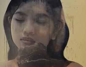 32-Kow Leong Kiang, Mizell. 2010 Oil on Jute 149 cm x 149 cm