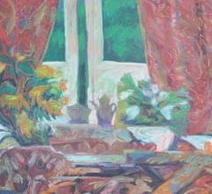 42-Rafiee Ghani, High Tea. 1993 Oil on Canvas 114 cm x 100 cm