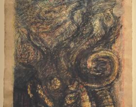 1-Abdul Latiff Mohidin, Serangga 28. 2012 Mixed Media on Tibetan Paper, 76 x 51 cm