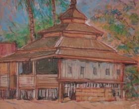 11-Haron Mokhtar Nostalgia Ingatan IV Pastel 27 x 40 cm 1994