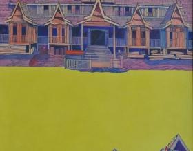 12-Haron Mokhtar, Nostalgia Series. 1994 SOLD | Acrylic on Canvas 121 cm x 87 cm