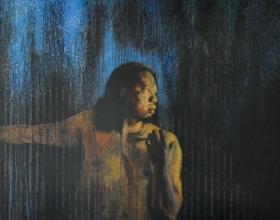 5-Bayu Utomo Radjikin, Puisi Jiwa 2. 2007 Acrylic on Canvas 134.5 cm x 259 cm