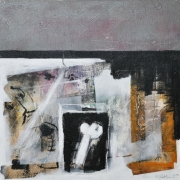 2-Study of Figure, 2009 RM 2,750.00-SOLD | Mixed media on canvas | 61 x 61 cm