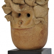 3-Pottery Head, Undated RM 13,440.00-SOLD | Stoneware | 22 x 9 x 9cm