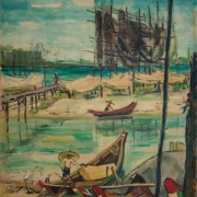2-Telok Bahang Beach Penang Malaya, 1960 RM 44,000.00-SOLD | Oil on canvas | 74 x 54.5 cm
