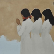 Lost in Prayer, Circa 1999 RM 9,000 - RM 12,000-AVAILABLE | Oil on canvas | 77.5 x 98 cm