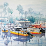 11-Tranquility, 2011 RM 2,200.00-SOLD | Watercolour on paper | 50 x 70 cm