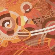 14-Earthscape Series-Dawn, 2011 RM 1,120.00-SOLD | Acrylic on canvas 56 x 88 cm