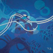 15-Feeling Blue, 2011 RM 2,240.00-SOLD | Acrylic on canvas | 60 x 60 cm