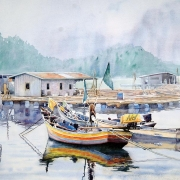 17-Serenity, 2011 RM 784.00-SOLD | Watercolour on paper | 50 x 70 cm
