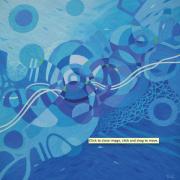 2-Mindscape - Blue Series, 2012 RM 7,150.00-SOLD | Acrylic on canvas | 153 x 153 cm