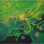 3-Greenscape, 2012 RM 6,600.00-SOLD | Acrylic on canvas | 153 x 153 cm