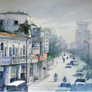 5-Penang Street, 2011 RM 1,980.00-SOLD | Watercolour on paper | 50 x 70 cm