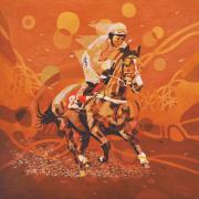 9-The Winner, 2012 Lot 95 Nik Rafin, The Winner, 2012, Acrylic on canvas 153 x 153 cm