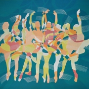 Nik Rafin _Ballerina - Green Series_ (April 2016) Acrylic on Canvas 122cm x 183cm