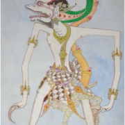 1-Wayang Kulit Figure, 1992 RM 15,400.00-SOLD | Watercolour on paper | 55 x 38 cm
