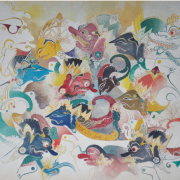 2-Wayang Kulit, 1980 RM 21,450.00-SOLD | Watercolour on paper | 54 x 64 cm