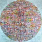 39 Nizar Kamal Ariffin B. Pahang, 1964 Dalang Series _Siri Dunia Garis Aman #6_, 2016 Acrylic on canvas 122 x 122cm