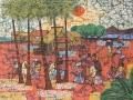 "Kwan Chin ""Kampung Life"" (2012) Batik 76 x 101.5cm RM14,500"