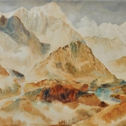 2-Himalayan Panorama, 1982 RM 56,000.00-SOLD | Watercolour on paper | 77.5 x 113 cm