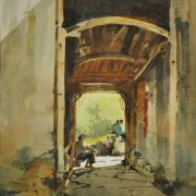 5-SOLD rm 4,480-Ong-Kim-Seng-38-x-28-cm,-Watercolour-on-paper-RM-6,000---8,000