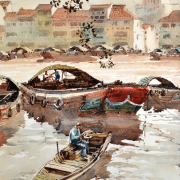 51-ong-kim-seng-Title---Singapore-river.-Year---1999-Dimension---71-cm-x-51-cm-Watercolour-on-paper-Private-Collection-Kuala-Lumpur