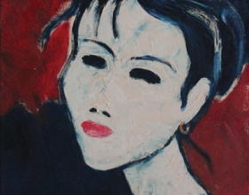 11-Face'99, 1999 45cm x 45cm Oil On Canvas