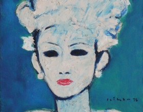 12-Gadis, 1998 45cm x 45cm Oil On Canvas