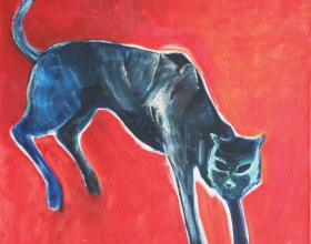 15-Kucing, 1999 70cm x 70cm Oil On Canvas