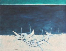 16-Lautbali, 1996 90cm x 110cm Oil On Canvas
