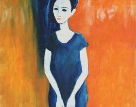17-Mina, Undated 100cm x 100cm Oil On Canvas