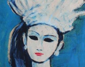 20-Ni Kadik, 1998 45cm x 45cm Oil On Canvas