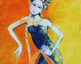 21-Penari, 2011 70cm x 70cm Oil On Canvas