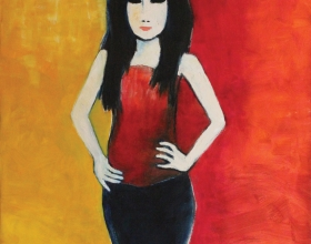 7-Elina, 2011 140cm x 140cm Oil On Canvas