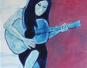 1-Adelin, 2011 140cm x 140cm Oil On Canvas
