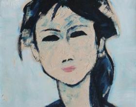 10-Face   45cm x 45cm Oil on Canvas