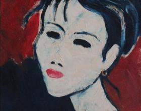 11-Face'99, 1999 45cm x 45cm Oil On Canvas
