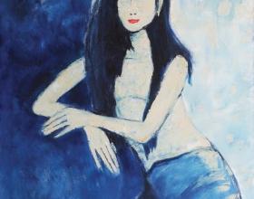13-Hapsari, 2008 100cm x 90cm Oil On Canvas