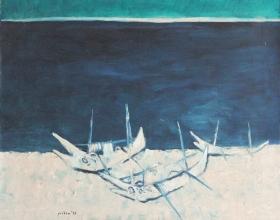 16-Lautbali, 1996 90cm x 110cm Oil On Canvas