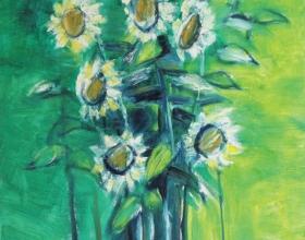 5-Bungamatahari 90cm x 140cm Oil on Canvas