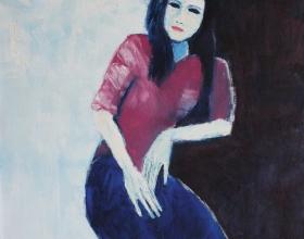 6-Dati, 2008 100cm x 100cm Oil On Canvas